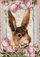 BÃœGELBILD-Vintage-Shabby-Nostalgie-Hase-Ostern-Easter-3225