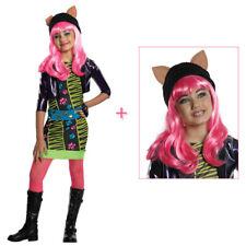 HOWLEEN WOLF KOSTÜM & PERÜCKE Karneval Monster High Katzen Tiger Kinder Kleid