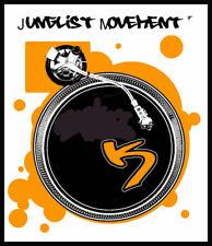 Camiseta para hombre Música Retro Fresco Junglist movimiento cubiertas Vinilo tambor bajo
