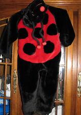 Ages 2 4 child Halloween outfit costume Ladybug Faux fur girls boys EUC lady bug