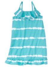 GYMBOREE TROPICAL BLOOM BLUE DIP DYE RUFFLE WOVEN DRESS 3 4 5 6 7 8 10 12 NWT-OT