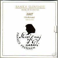 BU Slovenie 2007  * * *  coffret BU Slovénie 2007 !!!!!