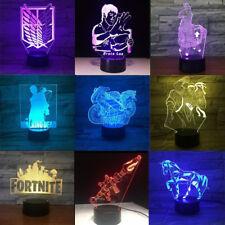 Fortnite Llama 3D LED Nuit Lumière Veilleuse Lampes de Table Cadeau Xmas Gift