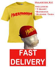 HOGAN HULKAMANIA HULK FANCY DRESS WRESTLING WRESTLER T-SHIRT, BANDANA & 'TASH