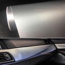 Silver Matte Car Part Interior Leather Grain Texture Film Vinyl Wrap Sticker AB