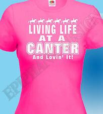 Jinete Caballos Camiseta CANTER Ecuestre LOVIN' IT Equitación Regalo Ideal