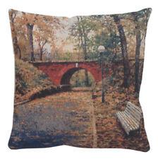 Das Bridge Jacquard Woven Accent Throw Pillow Cushion Cover Home Decor Fine Art