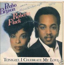 45T PROMO-P.BRYSON & R.FLACK-TONIGH I CELEBRATE MY LOVE