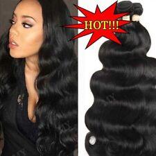 8-30 Inch Brazilian Virgin Human Hair Extensions 3Bundles Weave Natural Black US
