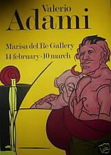 ADAMI Valerio affiche originale lithographie figuration narrative