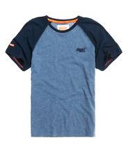 Superdry M10001TQ QC9 Orange Label Baseball Tee T Shirt Midnight Grit/Pitch Navy