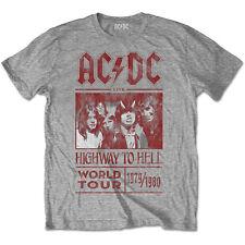 AC/DC Men's Highway to Hello World Tour 1979/1980 Cotton T Shirt