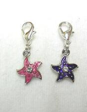 Enamel star/flower Clip-on charm - choice of 2 colours