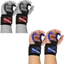 Heavy Duty Neoprene Weight Lifting Rod Hook Padded Wrist Wraps Power strap