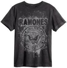 Amplified - Ramones Graffiti Logo Herren T-Shirt (Grau) (S-XL)
