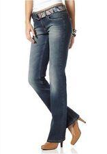 Arizona Jeans mit Gürtel Gr.34 NEU Damen Hose Stretch Blau Used Bootcut L32 AJC