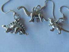 Dinosaurs, Lost World, extinct, Tyr Rex, Diplodocus Stegasourus charm earrings