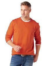 Grey Connection Sudadera Hombre Camisa Sudadera manga larga naranja 670148
