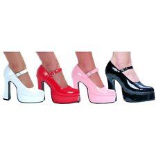 Mary Jane Shoes Chunky High Heel Platform Adult Womens