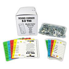 Car Dealer Key Tags  | Many Colors, Self Laminating, Round Corner | EZ407 250p