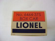 Lionel 6464-375 Box Car Licensed Reproduction Box