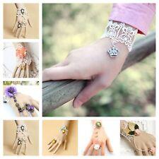 Original Designer Handmade Lace Jewelry Adjustable Bracelet Ring High quality