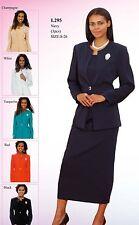 Sunday Best Women Church Suit - Soft Crepe Fabric - Standard to Plus Size - L295