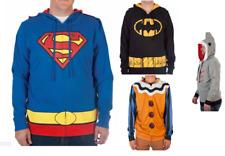 NEW Batman Superman Shark-Face Scary Clown Face Men's Full-Zip Hoodie Detachable