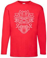Chinese Dragon Head I Langarm T-Shirt Mask China Symbol Chinesischer Drachenkopf