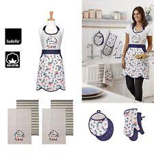 Aimer La Vie Cotton Kitchen Range by Ladelle - Apron, Mitten, Tea Towel Choice