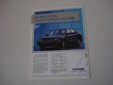 advertising Pubblicità 1991 HYUNDAI LANTRA 1.6 GLS DOHC