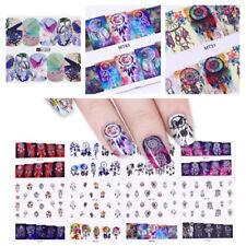 12Patterns/Big Sheet Nails Water Decals Dreamcatcher Flower Manicure Stickers