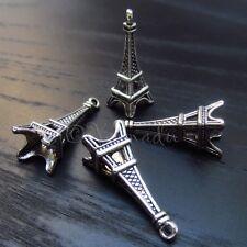 Eiffel Tower Paris Wholesale Silver Plated Charm Pendant C0139 - 10, 20 Or 50PCs