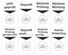 Grundplakette f/ür Pr/üfplakette BGV D27 n/ächste Wartung ohne Firmendruck 50 St/ück 50 x 70 mm