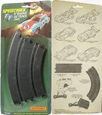 "2 1979 Matchbox Slot Car SPEED TRACK 9"" CURVES MOC 3771"