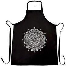 Summer Art Chef's Apron Indian Mandala Pattern Design Floral Drawn Logo