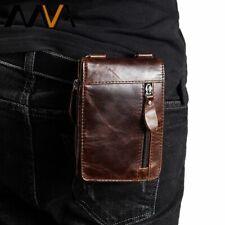 Men Waist Packs Genuine Leather Fanny Belt Phone Pouch Travel Pouch Bag