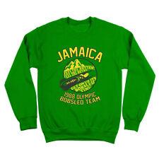 Jamaica 1988 Olympic Bobsled Team  Funny Cool Green Crewneck Sweatshirt