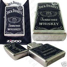 Zippo Jack Daniel's Daniels Label Brushed Chrome Lighter 24779