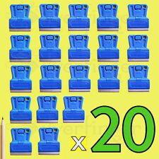 5—20pc MINI RAZOR BLADE SCRAPERS • Single Edge Razor Paint Scraper Holder Handle