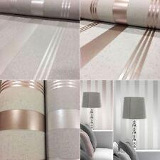 Fine Decor Quartz Stripe Wallpaper Luxury Embossed Vinyl Glitter Metallic