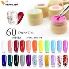 60 Solid Colors Nail Art Designs VENALISA 2020 Hot Sale Soak Off Paint Gel UV