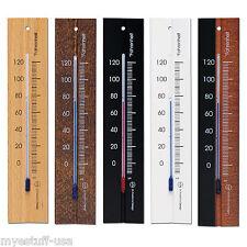 Analoge Wand Thermometer Fahrenheit Skala Buchenholz 7.8 cm in 5 Ausführungen