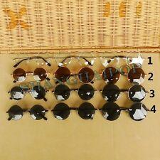 Dark Lens Sunglasses Round John Lennon Shades Sunnies Clear Glasses Hippie Retro