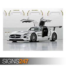 MERCEDES BENZ SLS AMG GT3 (AA813) CAR POSTER - Poster Print Art A0 A1 A2 A3
