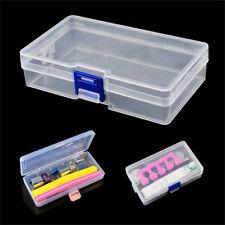 Plastic Nail Art Pen Brush Manicure Pedicure Tool Storage Box Container Case KI