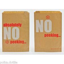 Brown KRAFT NATALE Sacchi di Carta assolutamente No Peeking PARTY BAG NATALE