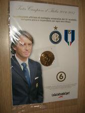 MEDAGLIA N°6 INTER CAMPIONE D'ITALIA 2006 2007 ROBERTO MANCINI DORATE 24K