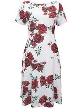 New Havren Cream Camilla Rose Print Midi Dress Sizes 8-16 RRP £69 Wedding/Formal