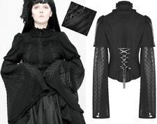Chemise gothique lolita victorien manche évasé plumetis corset plissé Punkrave